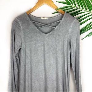 Ultra Flirt Womens Dress Gray Small